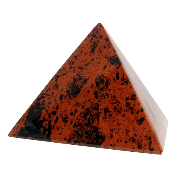 Obsidian Pyramid 04 - Mahogany Red Black Crystal Stone (2.7 Inches)