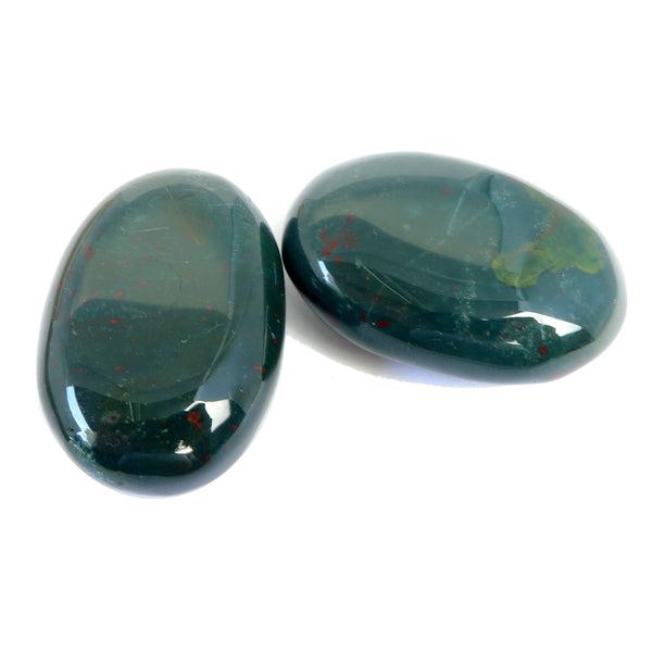 Bloodstone Slab 06 - Green Red Palm Stone Pair