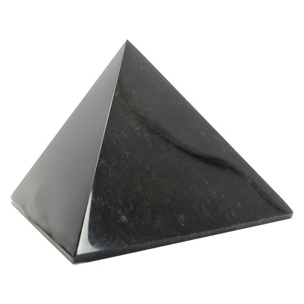 Obsidian Pyramid 06 - Black Sheen Crystal Stone (3 Inches)
