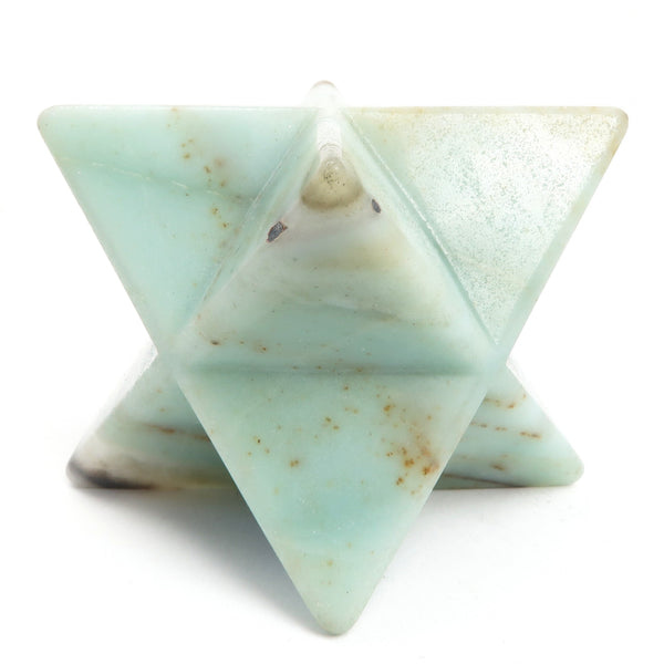 Amazonite Merkaba 01 - Blue Black Star Stone (2 Inch)