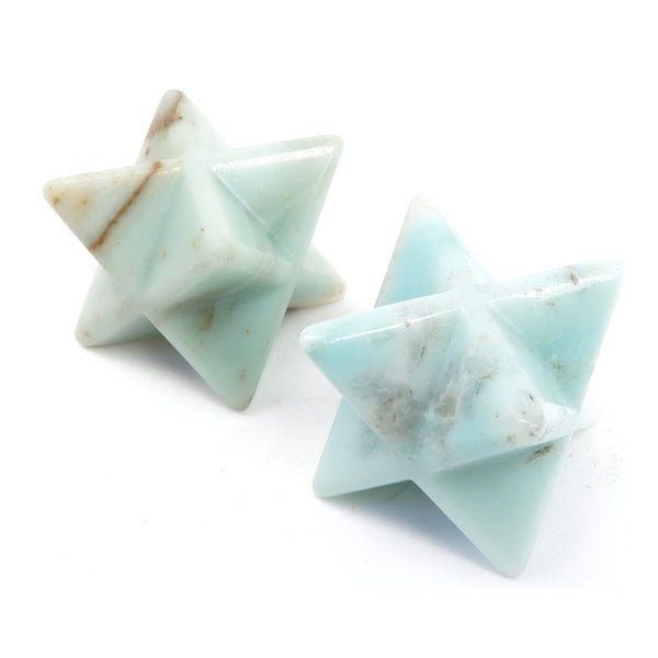 Amazonite Merkaba Set 01 - Blue Star Stone Pair