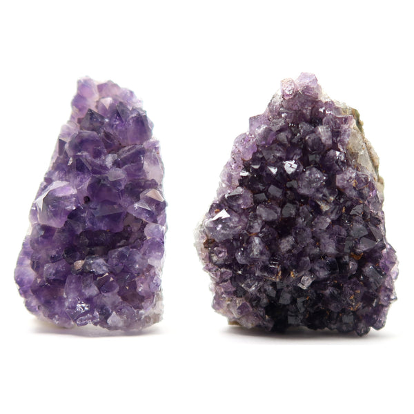 Amethyst Cluster 03 Pair Purple Geode Crystal Set