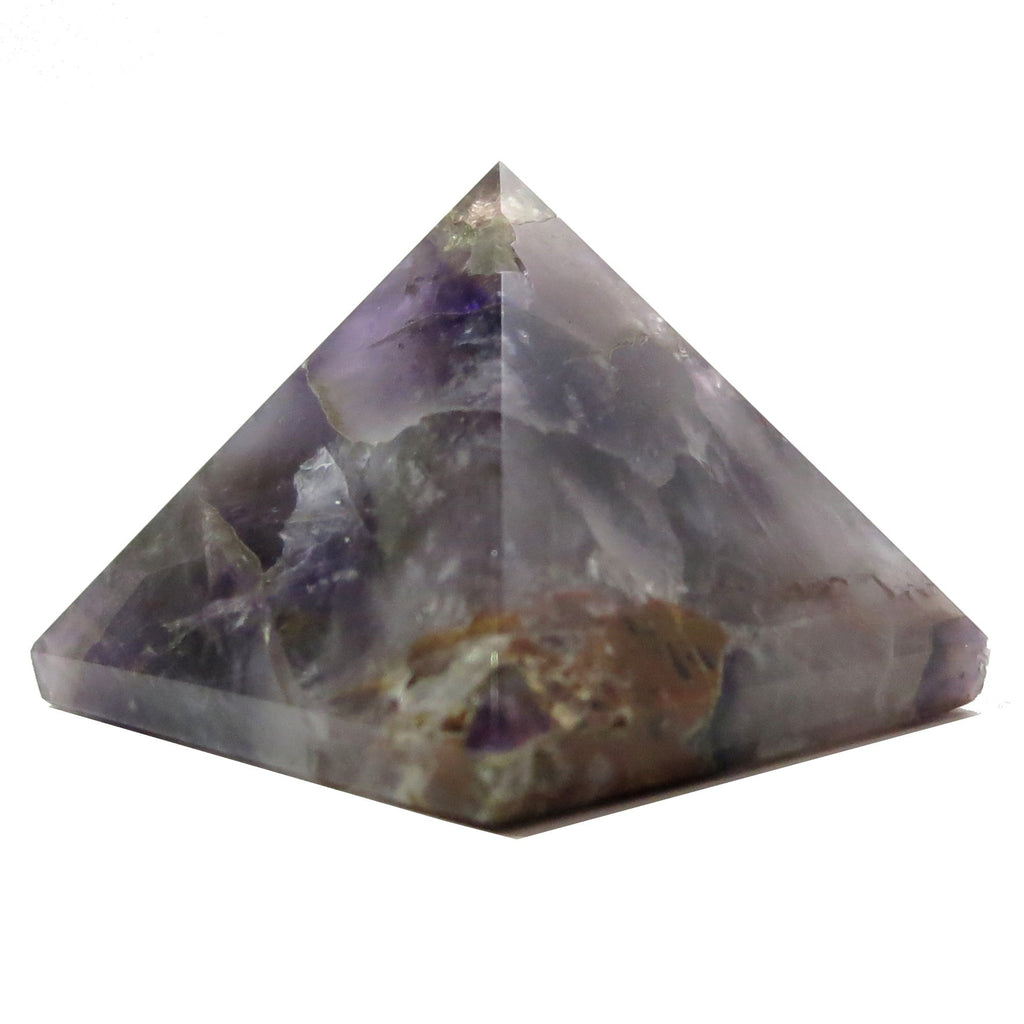 Amethyst Pyramid 08 Dark Purple Carved Stone (2.5 Inches) - I Dig Crystals