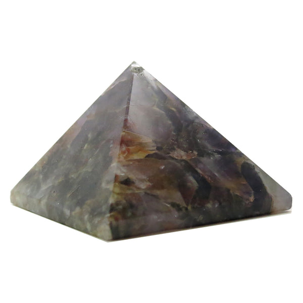 Amethyst Pyramid 09 Dark Purple Carved Stone (2.6 Inches) - I Dig Crystals