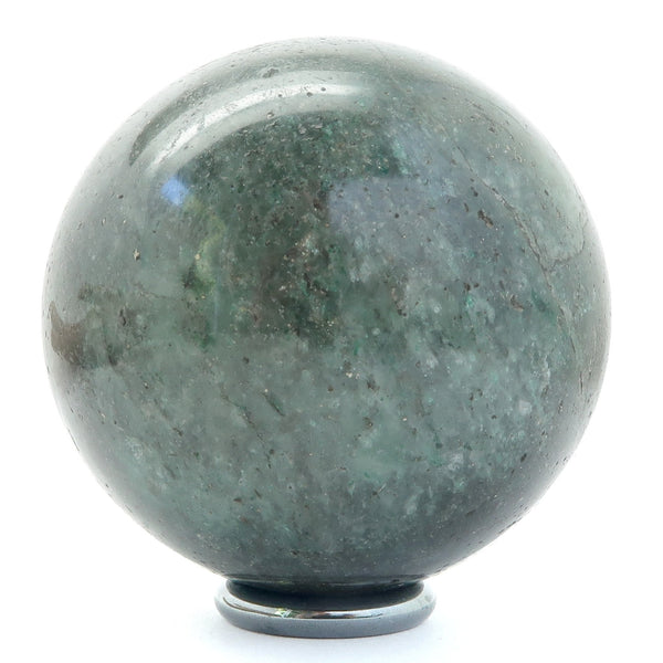 Aventurine Ball 04 - Dark Green Sphere + Stand (2.1 Inches)