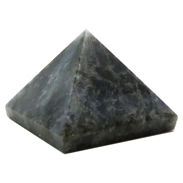 Aventurine Pyramid 05 Dark Blue Sacred Geometry Stone (2.4 Inches) - I Dig Crystals