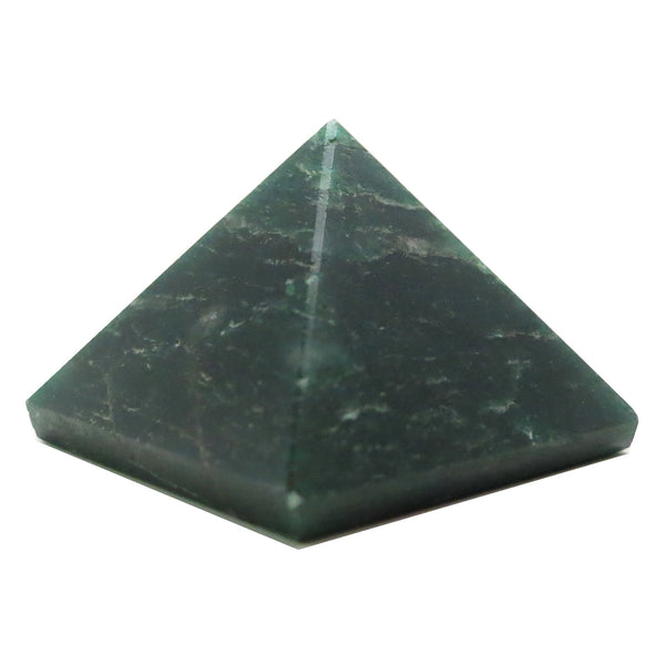 Aventurine Pyramid 07 Dark Green Sacred Geometry Stone (1.7 Inches) - I Dig Crystals