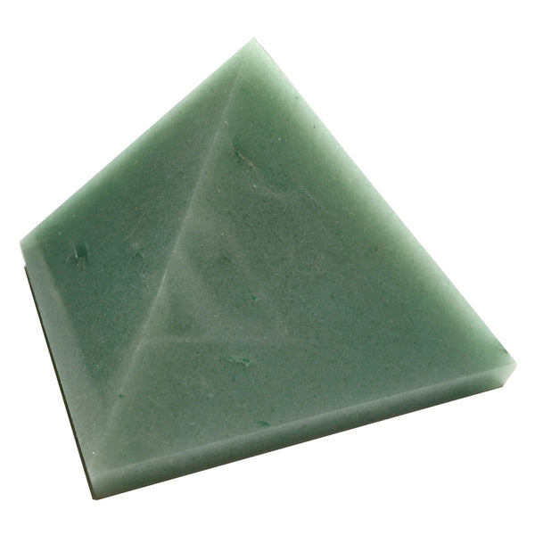 Aventurine Pyramid 09 Abundance Light Green Stone (2.3 Inches) - I Dig Crystals