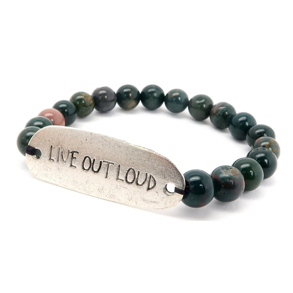 Bloodstone Bracelet 30 Live Out Loud Stretch