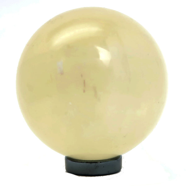 Calcite Ball 01 - Yellow Shiny Orb (2.3 Inches)
