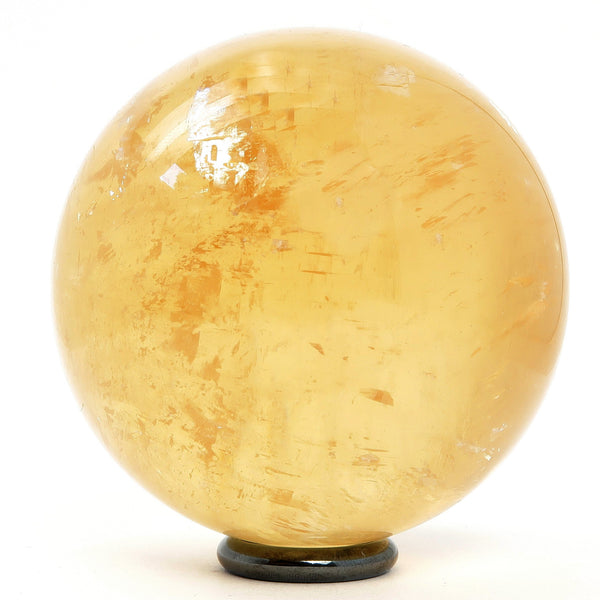 Calcite Ball 14 - Honey Golden Rainbow (2.5 Inches)