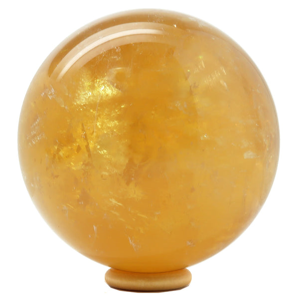 Calcite Ball 18 - Honey Golden Rainbow (3.5 Inches)