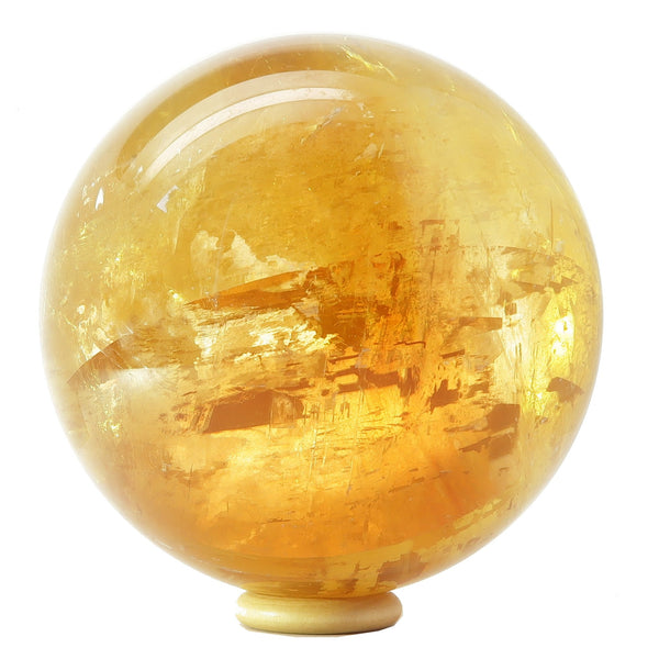 Calcite Ball 19 - Honey Golden Rainbow (4 Inches)