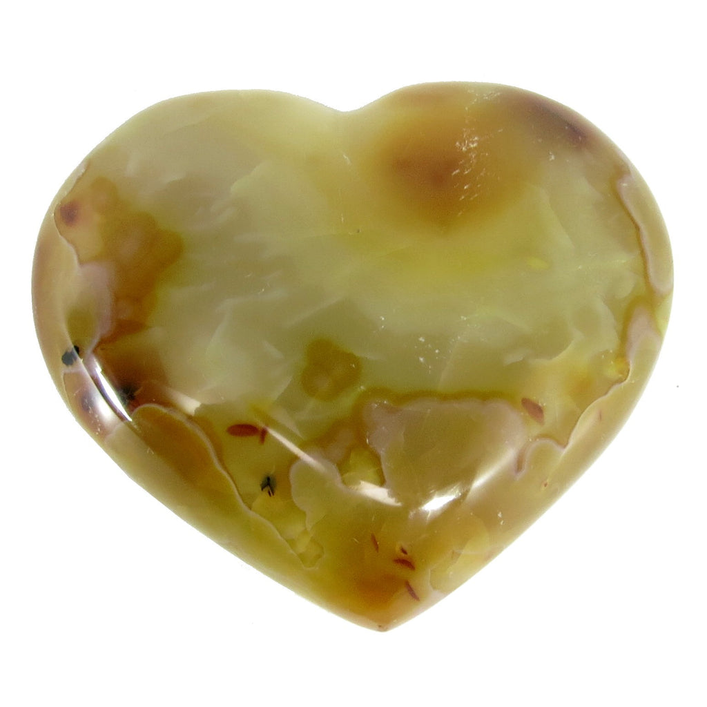Carnelian Heart 03 Yellow Orange Stone Crystal (3.2 Inches) - I Dig Crystals