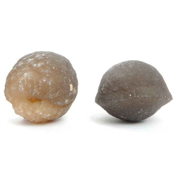 Chalcedony Ball 01 - Set Brown Rough Stone Rock Pair