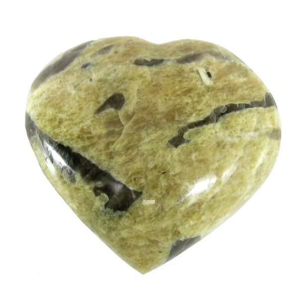 Feldspar Heart 01 Graphic Peach Moonstone Stone (2.6 Inches)