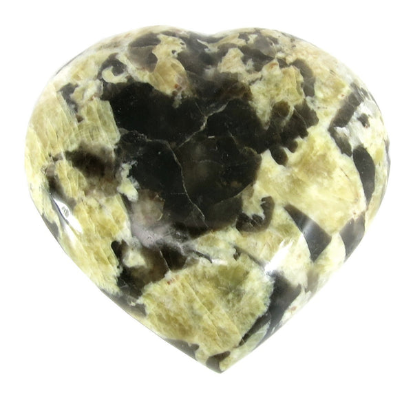 Feldspar Heart 02 Puffy Graphic Peach Moonstone Stone (3.1 Inches)