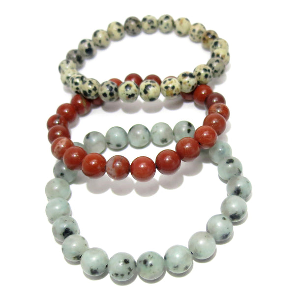 Jasper Bracelet 27 Trio Sesame Red Dalmatian Stretch Set