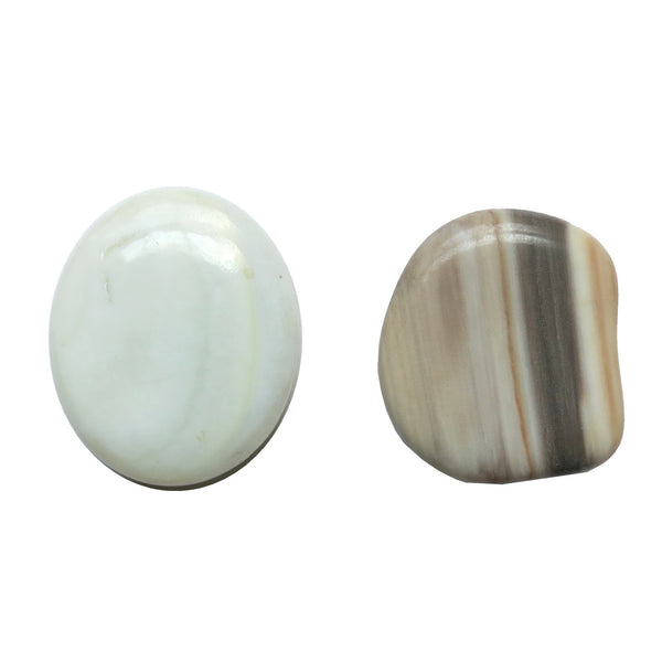 Jasper Magnet 01 White Striped Stone Set - I Dig Crystals