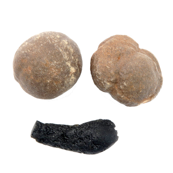 Moqui Balls 12 - Set Brown Shaman Stone Tektite (1.5-2 Inches)