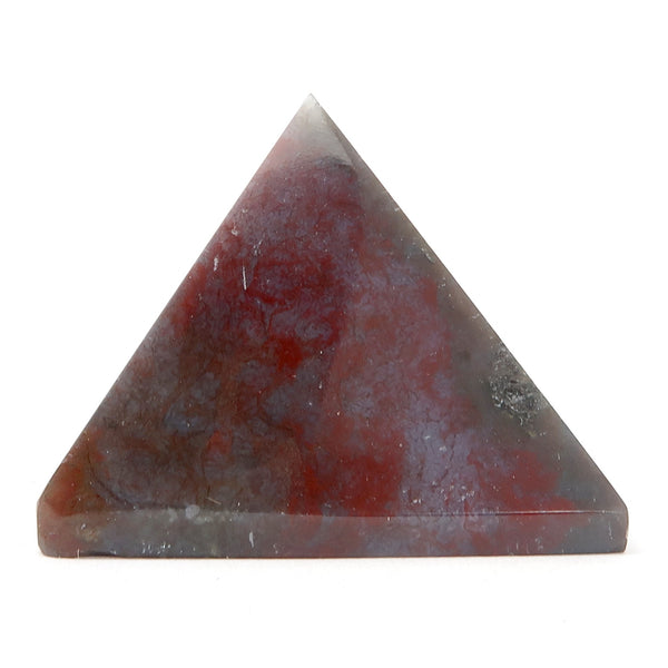 Moss Agate Pyramid 01 Green Red Stone (2 Inches)
