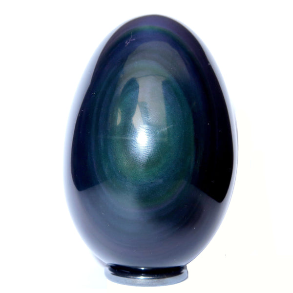 Obsidian Egg 06 - Rainbow Black + Stand (3.1 Inches)