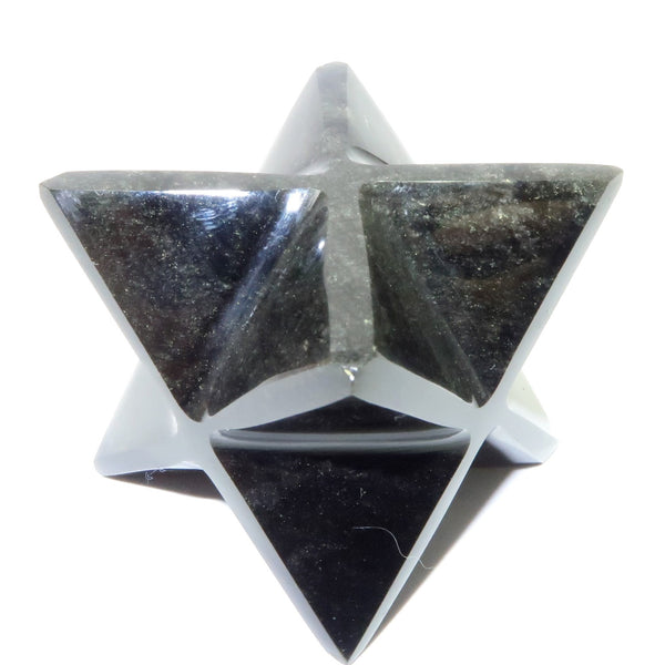 Obsidian Merkaba 05 Sheen Black Stone Star (1.5 Inches)