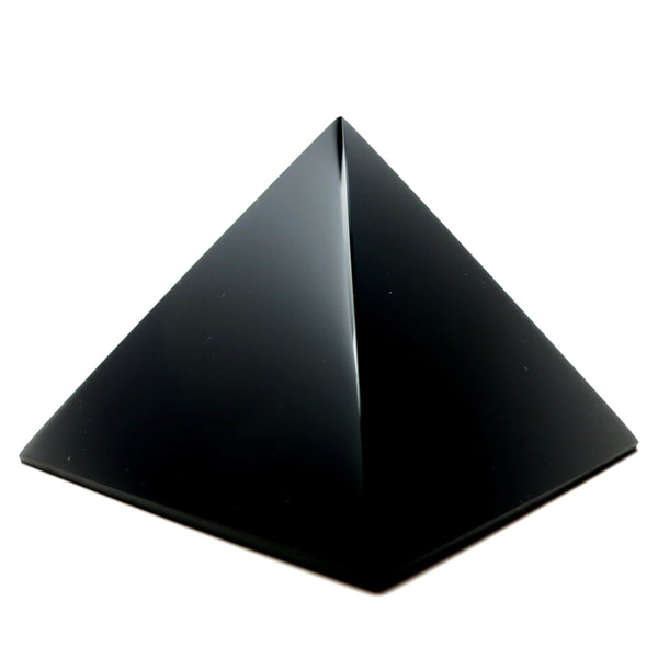 Obsidian Pyramid 01 - Black Crystal Stone (2.7 inches)
