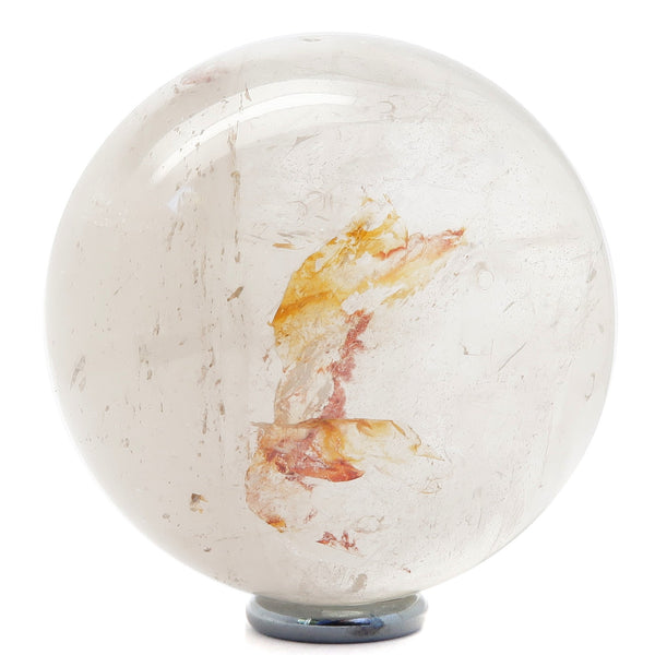 Quartz Ball 03 - Clear Rainbow Stone + Stand (2.5 Inches)