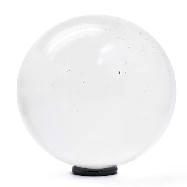 Quartz Ball 04 - Clear Rainbow Stone + Stand (3.4 Inches)
