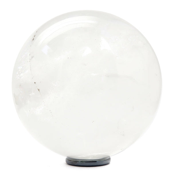 Quartz Ball 05 - Clear Rainbow Stone + Stand (3.4 Inches)
