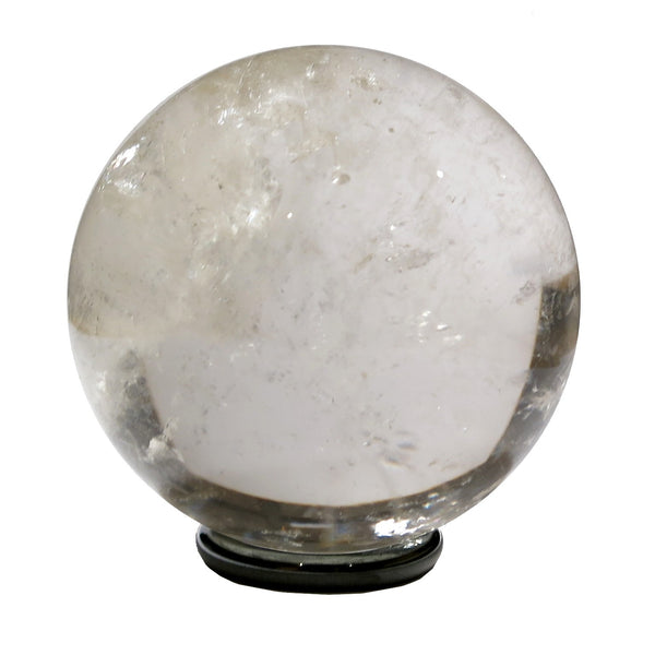 Quartz Ball 12 Clear Rainbow Stone Round Sphere + Stand (1.9 Inches) - I Dig Crystals