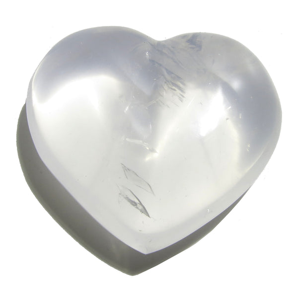 Quartz Heart 17 Girasol Milky Clear Stone (2.4 Inches) - I Dig Crystals