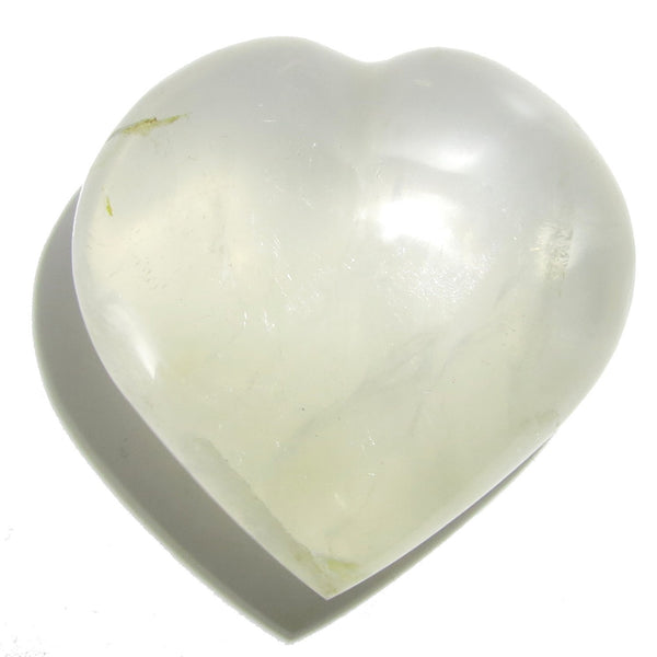 Quartz Heart 21 Iridescent White Girasol Stone (2.5 Inches) - I Dig Crystals