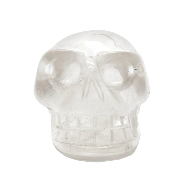 Quartz Skull 02 Clear Carved Stone Head (1.9 Inches) - I Dig Crystals