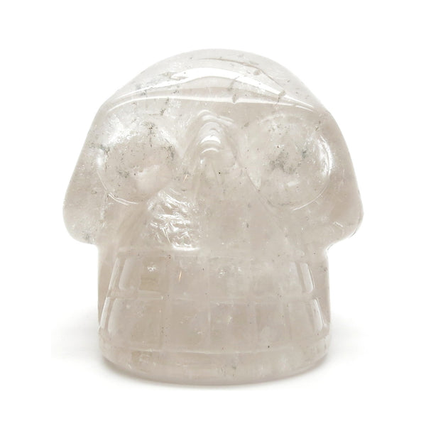 Quartz Skull 03 Light Smoky Carved Stone (2 Inches)