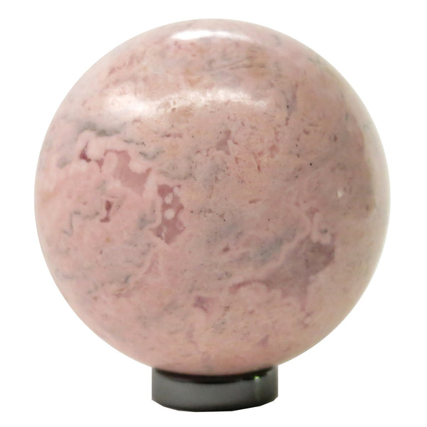 Rhodochrosite Ball 07 Pink Sphere Crystal Stone + Stand (2.4 Inches)
