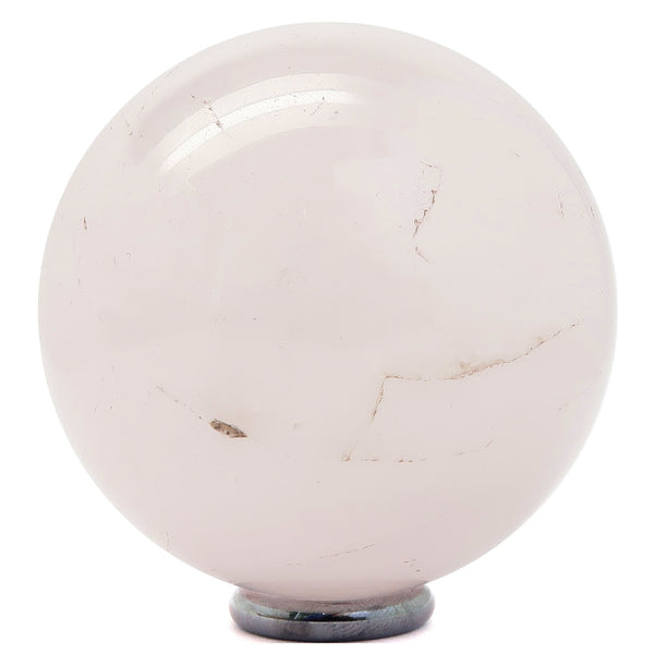 Rose Quartz Ball 03 - Light Pink + Stand (2.2 Inches)