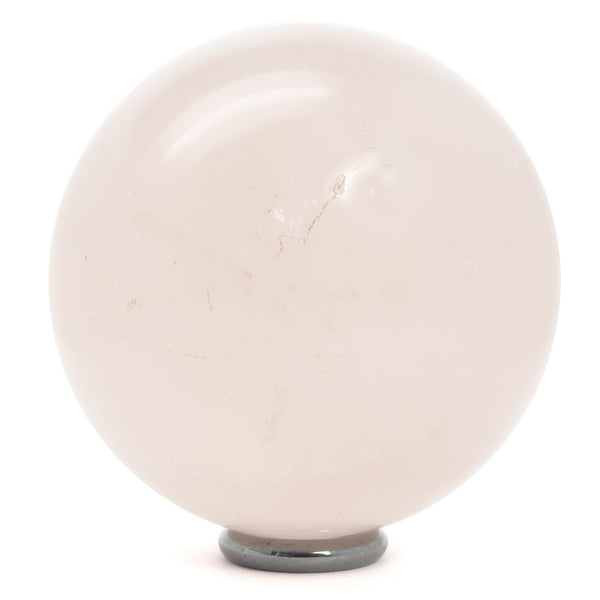 Rose Quartz Ball 06 - Light Pink + Stand (2.6 Inches)