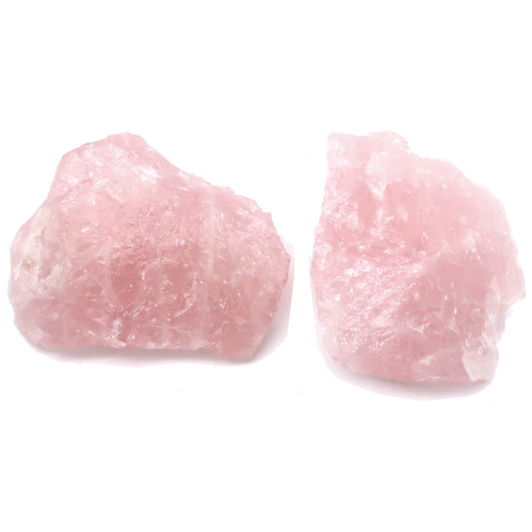Rose Quartz Mineral 06 - Set Rough Pink Pair Rock Love Stones