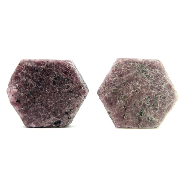 Ruby Mineral 05 Pair Genuine Rough Raw Rich Purple Stone Crystal Set
