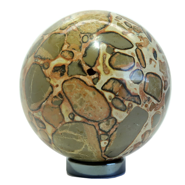 Safari Jasper Ball 02 Brown Patterned Stone (2.5 Inches)