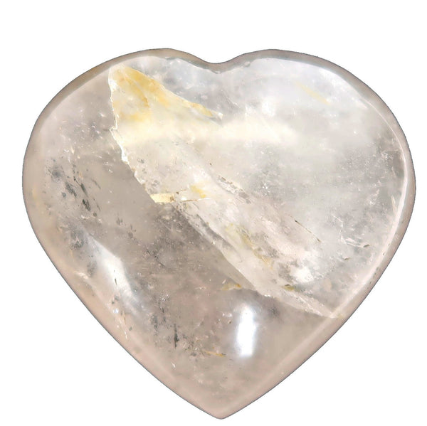 Smoky Quartz Heart 03 - Rainbow Brown Stone (2.7 Inches)