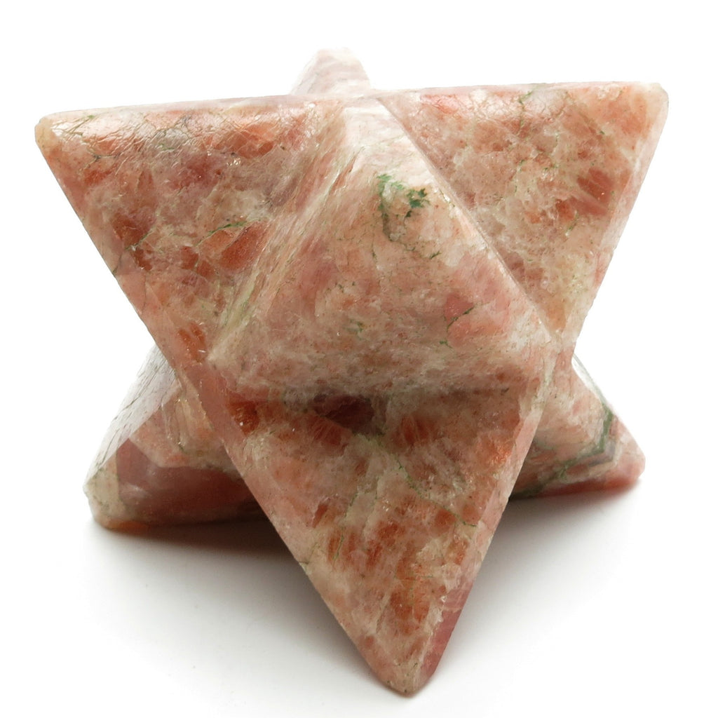 Sunstone Merkaba 01 Flashing Red Stone Star (2 Inches) - I Dig Crystals