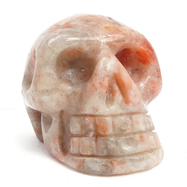 Sunstone Skull 05- Metallic Red Stone (1.9 Inches)