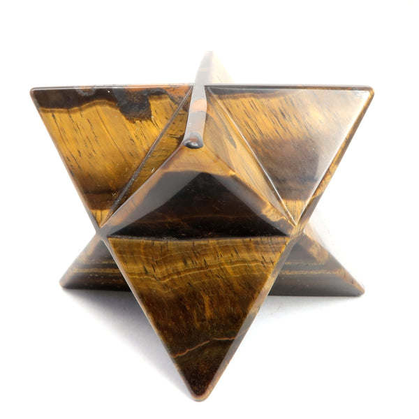 Tigers Eye Merkaba 01 - Brown Star Stone (2.1 Inch)