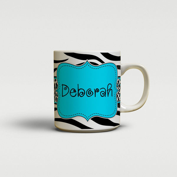 Cute zebra print with leopard pattern - Gifts for daughters - Personalized coffee cup or mug