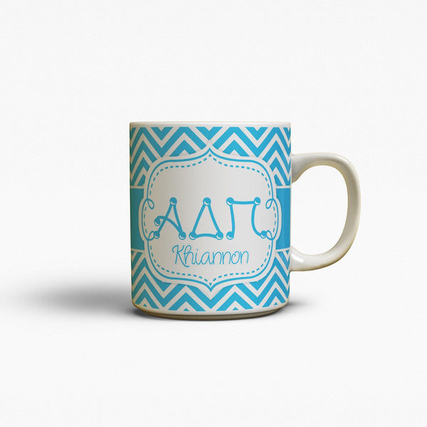 ALPHA DELTA PI - THIN  BLUE CHEVRON - ADPi COFFEE MUG
