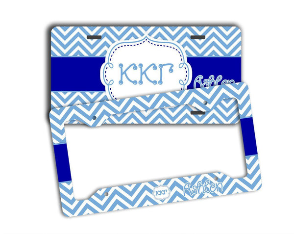 KAPPA KAPPA GAMMA - THIN BLUE CHEVRON - KKG LICENSE PLATE