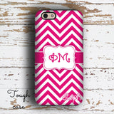 PHI MU - THIN PINK CHEVRON - SORORITY IPHONE CASE